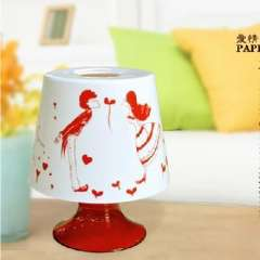 Lamp shape round paper towel tube
