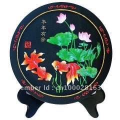 flower series charcoal carving art \activated carbon carving crafts\indoor air cleaner\Dish display(155*18MM)