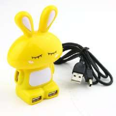 Little Rabbit obediently four USB 2.0 HUB