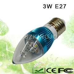 Low Power 3W E27 LED Candle Bulb