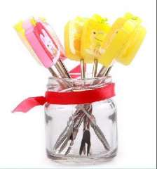 Creative fashion | cartoon fruit fork | stainless steel fruit fork | 8 pcs RB186