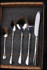 High-grade Western cutlery sets | stainless steel knife and fork spoon | 5 sets of cassette | KLT-5A Western cutlery