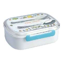 Single bunk lunchbox | spoon + fork lunch box | Random Color