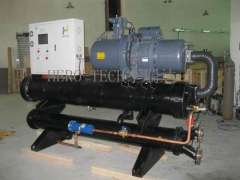 Concrete mixing station dedicated chiller