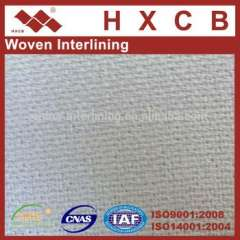 7830) 100%Polyester Woven Fusible Interlining Polyester Fabric For Suits