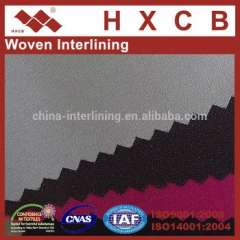 3410)100% Polyester Plain Fusible Interlining Apparel Woven Fabric