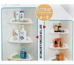 Strong suction cup triangle bathroom shelf (21 * 21 * 34CM)