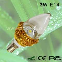 Low Power 3W LED Candle Bulb E12