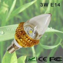 Low Power 3W Dimmable LED Candle Bulb