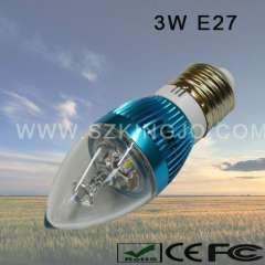 Low Power 3W LED Candleabra Bulb with E27 Base