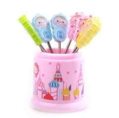 Fashion creative | cute cartoon fruit fork | stainless steel fruit fork | 8 pcs RB178 blessing