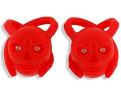 2-Pack Devil-Shaped Bicycle Bike 2-LED Colorful Safety Torch Flash Light (Red)