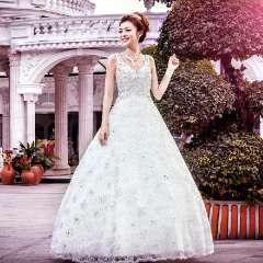 Urged bride wedding formal dress princess wedding dress new arrival luxury 2013 double-shoulder wedding a958