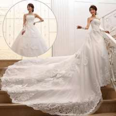 2013 sweet princess tube top puff skirt train wedding dress diamond thin