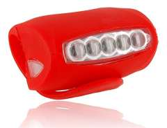 5-LED Bicycle Bike Safety Torch Flash Light (Red)