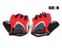 Durable FS10930 M 5 Low Cut Fingers Cycling Driving Camping Gloves 1 Pair (Red)