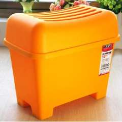 2011 locking waterproof plastic storage stool / changing his shoes stool - No.