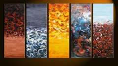 Fashion handmade abstract oil painting frameless OIL0143