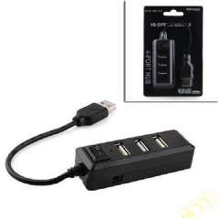 With Switch 4-port full-speed 480 USB 2.0 HUB Black