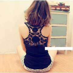 Back hollow lace hook flower vest / harness / primer shirt