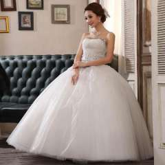 The bride diamond tube top quality bandage wedding dress puff skirt the bride princess wedding dress Free Shipping