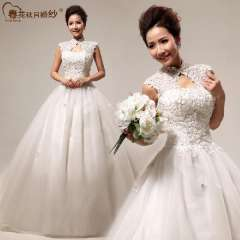 Vintage exquisite 2013 royal lace bag bandage formal dress fashion bride wedding Free Shipping