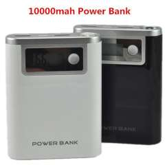 New Model 10000mAh LCD Portable Power Bank with LED