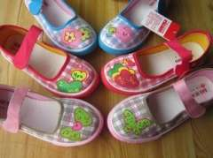 Calico cat genuine female models hand-painted princess shoes girls shoes princess toddler child single canvas shoes | wholesale