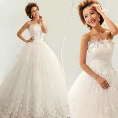2013 sweet tube top bandage the bride wedding dress formal dress Free Shipping