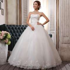 Winter bride tube top quality wedding dress fashion embroidered princess wedding qi Free Shipping