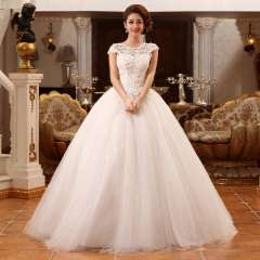 Bag wedding dress new arrival cutout lace slit neckline wedding dress vintage strap royal wedding dress Free Shipping