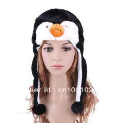 Animal Hat Penguin Plush Winter Festival Hat, 125 Styles, Support Mix Order, Free Shipping, Dropshipping 2013