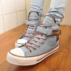 Pure incense | ladies casual high-top canvas shoes | shoes | Korean women | 2013 student shoes tide shoes a generation of fat