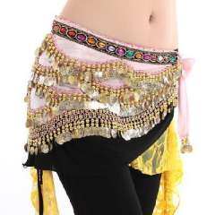 Belly dance waist chain 338 foot credits | belly dance waist Nile Diamonds | belly dance Yao Jin | Multicolor