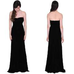 Perfect quality black velvet slim dinner party evening dress Free Shipping