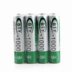 BTY rechargeable battery AAA 1.2V 1000MAH 4 granulocyte row