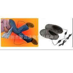 Supply of quality export USB electric warm slippers, plush shoes, velvet shoes