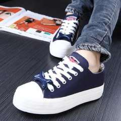2013 canvas shoes thick crust muffin cute female | female bones shoes lace casual shoes to help low | Tide w072