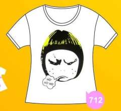 Fashion creative | Coke T-shirt | naughty girl | Zhang Xian free individuality | White