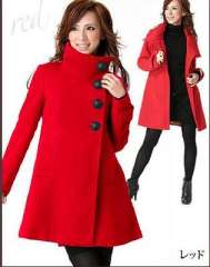 Wool-polyester coat