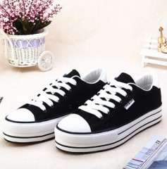 Wholesale agent new casual classic sports shoes muffin female student lacing vulcanized canvas shoes single 2013