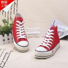 Muffin bottom white high-top canvas shoes | WOMEN summer | Korean tidal flat shoes breathable child | 2013 classic