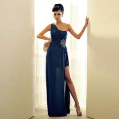 2013 banquet formal dress elegant one-piece dress oblique Free Shipping