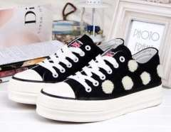 2013 new low help lace sweet muffin bottom canvas shoes women shoes women shoes thick crust w069