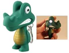Crocodile LED Key Chain with Sound Effect (Green)