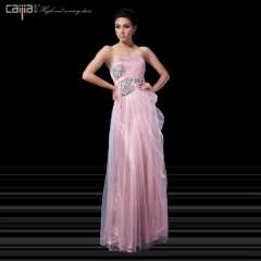 Tube top pink evening dress 2013 dress evening dress