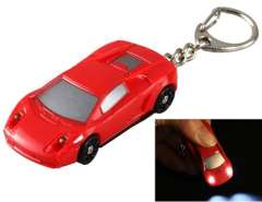 Cartoon Car LED Light-up Keychain with Sound Effects (Red)