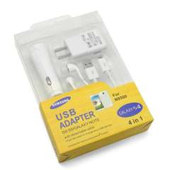 4 in 1 Travel Charger for Samsung S4 I9500 and Other Android Phones
