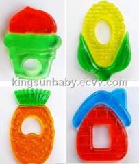 Double Colors Water Cooling Baby Teether Didfferent Design
