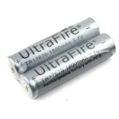 UltraFire 17670 1800mAh 3.7V rechargeable lithium battery | with a protective plate